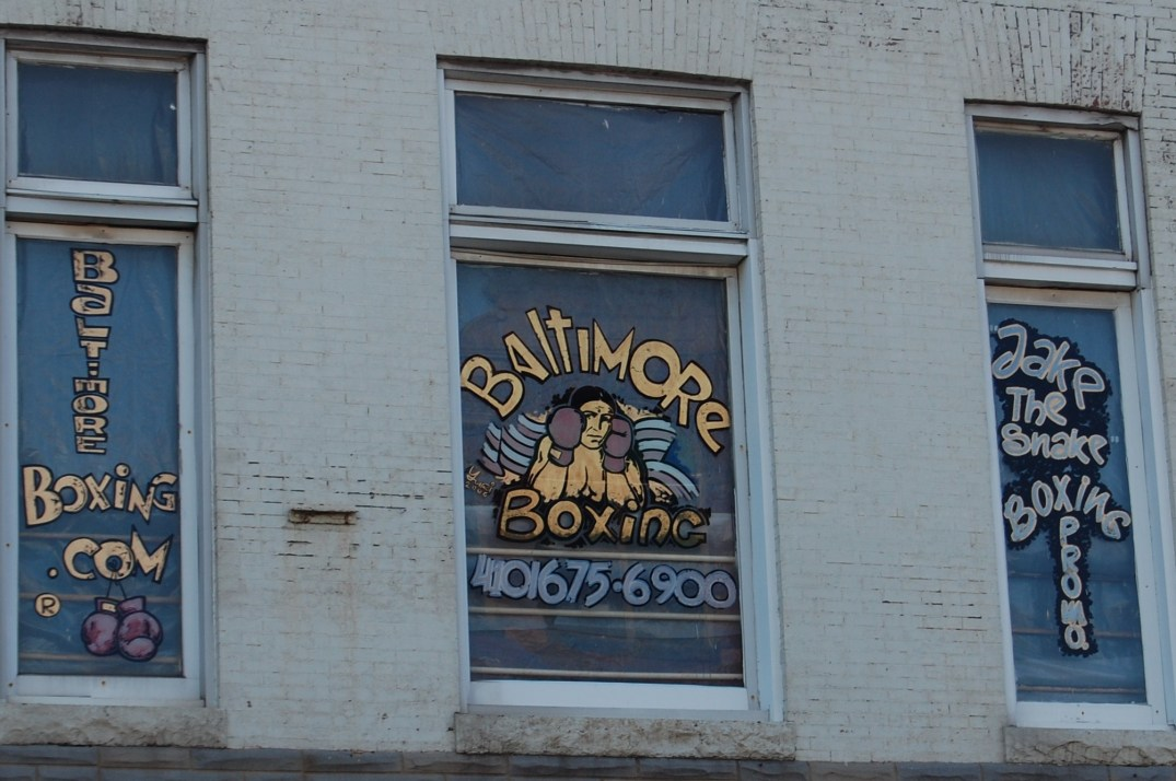 It's not a distinctive sight until you walk in and take in the grit of the Baltimore Boxing Club on Broadway.