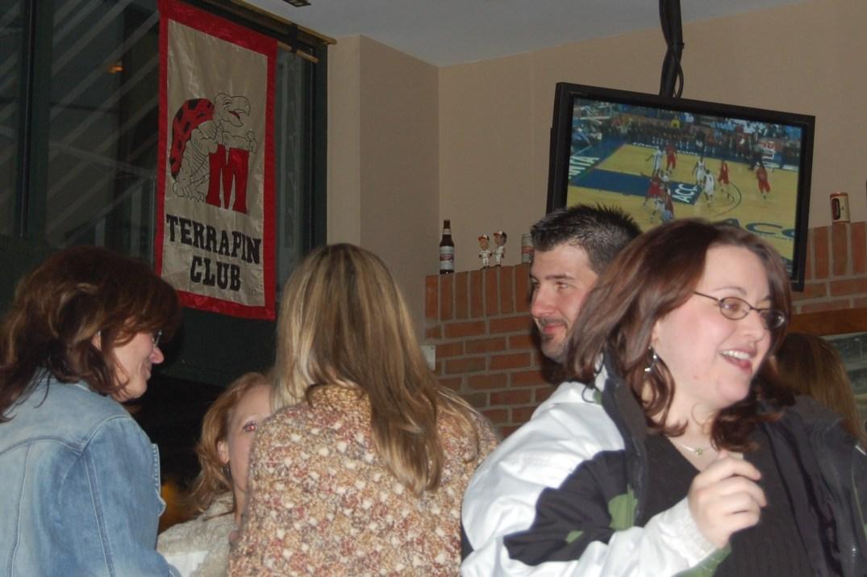 The Terrapin Club Banner hangs at Della Rosa's in White Marsh.
