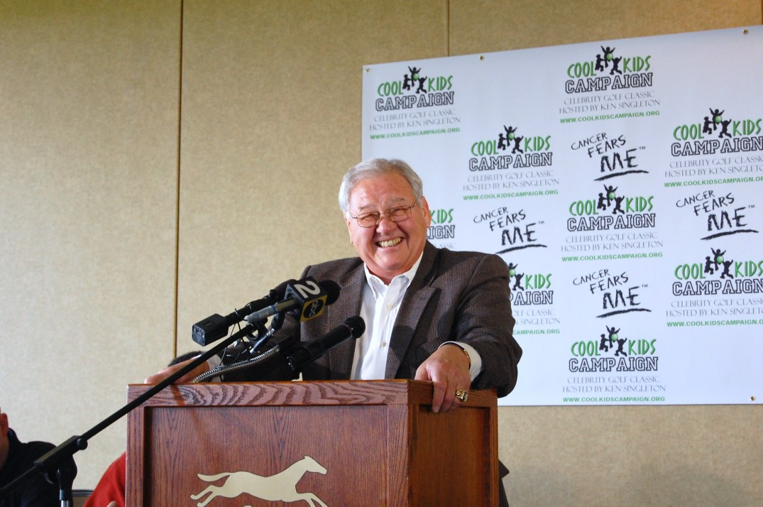 Tom Matte was the emcee and having a blast.